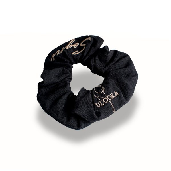 elastico per capelli nero